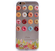 Dessert Pattern Transparent Soft TPU Material Cell Phone Case for iPhone 6