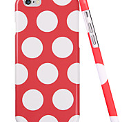 ESR® Beat Series Scratch-Resistant Perfect Fit Hard Back Case with Red and White Polka Dots Pattern for iPhone 6