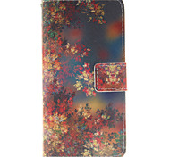 Foliage Pattern PU Leather Phone Case For Huawei P8 Lite