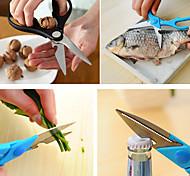 3 in 1 Scissors Fish Scaler Nut Cracker Bottle Opener Kitchen Aid (Random Color)