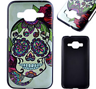 Skull Pattern Black PC Material Phone Case for Samsung Galaxy G360/J1 /G388F/G850G/G357
