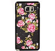 het elegante bloem design slanke metalen achterkant van de behuizing voor Samsung Galaxy Note 3 / noot 4 / note 5 / note 5 rand