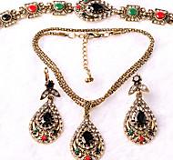 Z&X® Alloy/Extravagant Vintage Resin Jewelry Set Party/Casual 1set