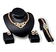 Bijoux Colliers décoratifs / Boucles d'oreille / Anneaux / Bracelet Soirée / Quotidien Alliage 1set Femme Cadeaux de mariage