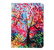 Malerei Bäume pu Lederholster mit Pattsituation für Galaxy Tab s2 8.0t715 / Galaxy Tab s2 9.7t815 um offen