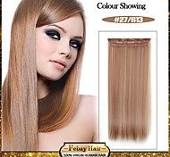 5 Clips Long Straight color 27/613 Synthetic Hair Clip In Hair Extensions For Ladies more colors available