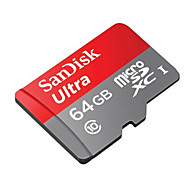 SanDisk 64GB Ultra MicroSDHC UHS-1 48MB/S TF Memory Card With SD Adapter