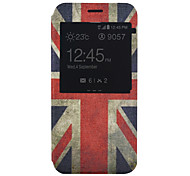 British Flag Pattern PU Material Full Package Phone Case for Samsung Galaxy A8