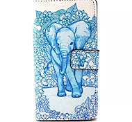 Blue Elephant Pattern PU Leather Phone Case For Sony M4