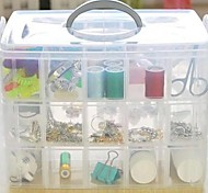 Jumbo 3 Tier Plastic Jewellery Tool Craft Storage Box with 30 Slot (Random Color)