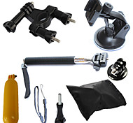 6-en-1 kit d'accessoires GoPro pour GoPro hero4 / 3 + / 3/2/1 sj4000 sjcam sj5000