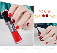 Nail Polish Double Painting Pen NO.13-24(7*2ML,Assorted Colors)