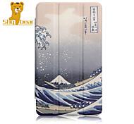 "caso estande capa de couro tímido urso ™ para Huawei t1 t1-701u 7 ""tablet"