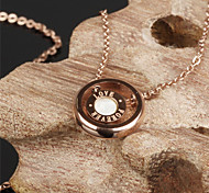 ailaicity®Ms Rose Gold Double Loop Only love Necklace