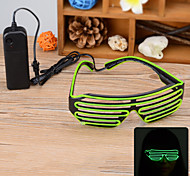 Party / Concert 3-Mode LED Glasses w/ Controller - Green + Black
