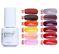 Sequins UV Color Gel Nail Polish No.97-108 (5ml, Assorted Colors)