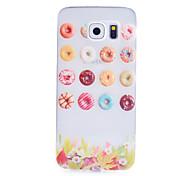 círculo padrão de açúcar caixa transparente de material TPU telefone fino para Samsung Galaxy S6 / S5 / S4 / S3 / s4mini / s5mini