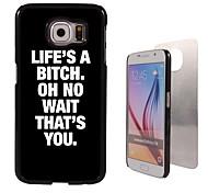 la vita è un design in alluminio caso di alta qualità spiaggia per la galassia s6