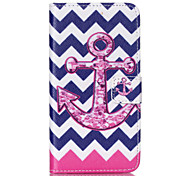 Anchors Pattern PU Leather Phone Case For Nokia N640