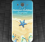 taladro y verano patrón de playa pc caso de la contraportada de la galaxia de Samsung i9152 de mega