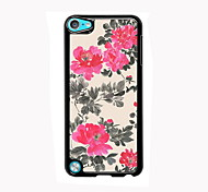 Flower Pattern Design Aluminum High Quality Case for iPod Touch 5