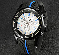 V6® Men's Fashion Racign Design Rubber Strap Quartz Casual Watch Cool Watch Unique Watch