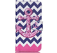 Purple Anchor  PU Leather Full Body Case with Screen Protector And Stand for iPod Touch 5
