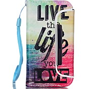 Life Pattern Two-in-One PU Leather for iPhone 5/5S