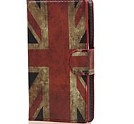 retrò in pelle uk bandiera Portafoglio con porta carte di caso della copertura di vibrazione per nokia lumia 435 borse microsoft telefono