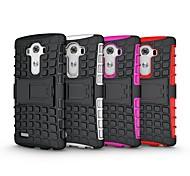 The Armored Tank protection Case with Stand TPU&PC Shockproof Protective Case for LG G4