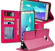 Krokodil-Leder Kreditkartenetui schlanke Brieftasche für Samsung-Galaxie s6 Kante zzgl g9280 5,7 Zoll (Farbe sortiert)