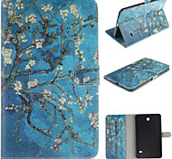 Apricot Blossom Design PU Leather and Hard Back Cover Pouch for Samsung Tab4 8.0 T330/Tab A 8.0 T350 T351