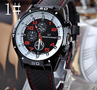 Men's Watches Car Line Fashion  Silicone Strap Sport  Watch