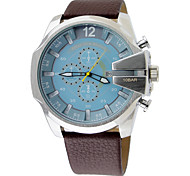Men's Sport Watch DZ Russian Military Genuine Leather Student Watches