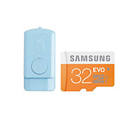 Original SAMSUNG EVO 32GB Class10 48M/S MicroSDHC TF UHS-1 Memory Card And USB Card Reader