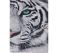 White Tiger Pattern PU Leather Full Body Case with Stand and Card Slot for iPad  mini3/iPad mini 2/iPad mini