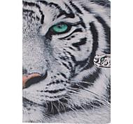 patrón de tigre blanco de la PU cuero caso de cuerpo completo con soporte y tarjeta de la ranura para el ipad MINI3 / Mini iPad 2 / ipad