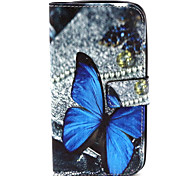Fashion Design COCO FUN® Lonely Butterfly Pattern PU Leather Wallet Case Cover for  Wiko Lenny