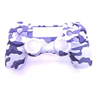 Protective ABS Case Cover + Screwdriver Set for PS4 - Grey Camo