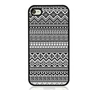 geometrisches Muster Leder Venenmuster Hard Case für iPhone 4 / 4s