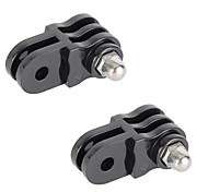 2Pcs Parallel Turn Round Axis Hinge Mount Adapter For Gopro Hero 4 Silver/4 Session/4/3+/3/2/1/sj4000/sj5000/sj6000