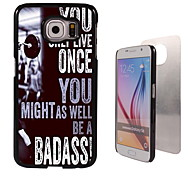 You Only Live Once Design Aluminum High Quality Case for Samsung Galaxy S6 Edge G925F