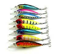 8pcs Hengjia Minnow Baits 11.1g 105mm Fishing Lures Random Colors