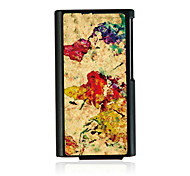 Ink Painting Leather Vein Pattern Hard Case for iPod Nano 7