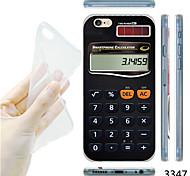 MAYCARI®Scientific Calculator Pattern TPU Soft Transparent Back Case for iPhone 6