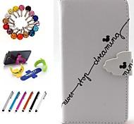 dibujo coloreado o patrón funda de cuero de la PU paquete incluye soporte stylus tapón anti-polvo para Samsung core 2 g355h