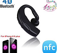 Wireless Bluetooth 4.0+EDR NFC Headset Headphone with Voice Control and Noise Cancellation Hands-Free Stereo A2DP