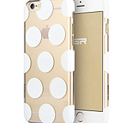 ESR® Beat Series Scratch-Resistant Perfect Fit Clear Hard Back Case with Polka Dots Pattern for iPhone 6