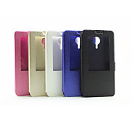 Window Flip Case  Silk Printing Simple Pu Mobile Phone Shell for Lenovo S898T Assorted Colors
