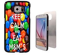 houd kalm en eet m&m's design aluminium hoge kwaliteit case voor de Samsung Galaxy s6 rand g925f